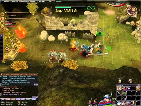 Atlantica Online TBS mission: Base Defense (level 60) with gun main