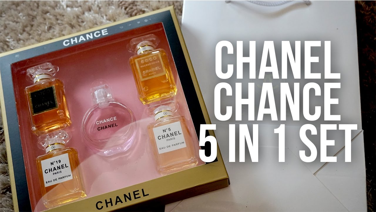 2dfbf8c0146 Chance Chanel 5 in 1 Perfume Set from Lazada - YouTube