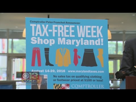 Marylanders Can Shop Tax Free Through Aug. 20