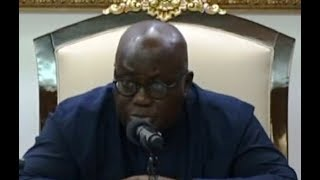 President Akufo-Addo confers with House of Chiefs