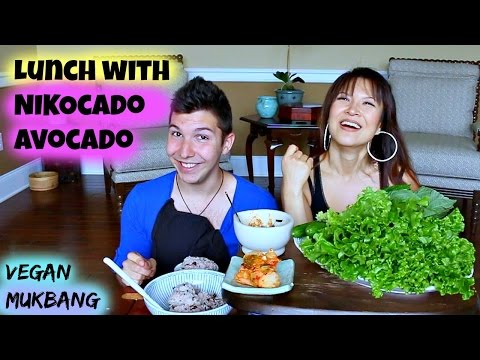 LETTUCE WRAP • Mukbang with my special friend