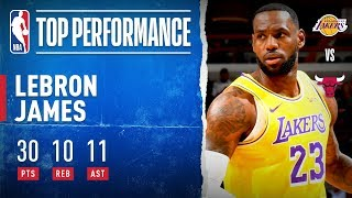 LeBron Racks Up THIRD Triple-Double In A Row!!