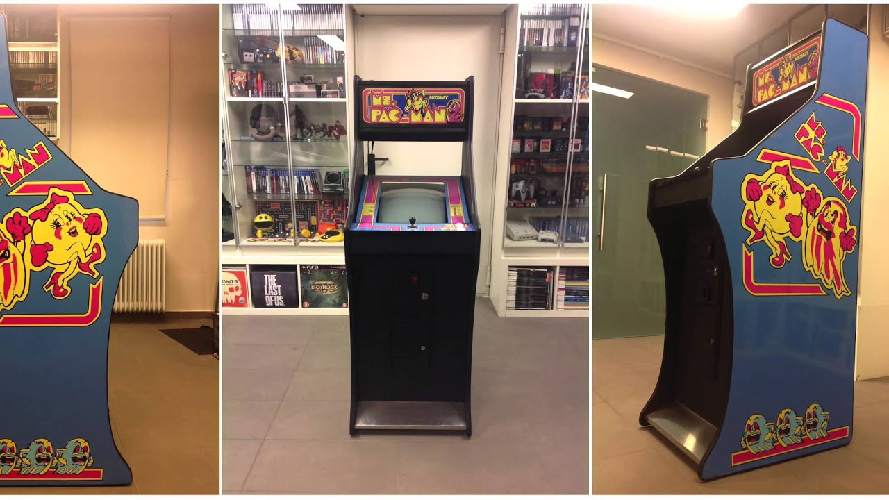 Ms Pacman Cabinet Custom Made Ms Pacman Arcade Cabinet Youtube