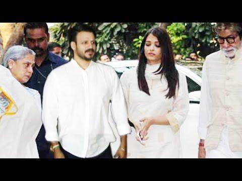 OMG Aishwarya & Vivek Oberoi Together Attends Shilpa Shetty's Father's Prayer Meet
