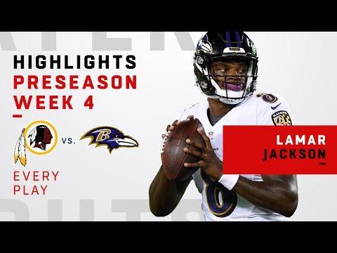 Every Lamar Jackson Throw & Run vs. Redskins