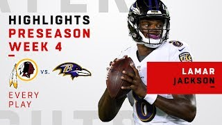 Check out every play from baltimore ravens rookie quarterback lamar jackson. the washington redskins take on during week 4 of 2018 n...