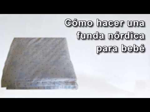 Como Hacer Edredon Cuna.Como Hacer Una Funda Nordica Para Cuna De Bebe Edredon How To Make A Duvet Cover