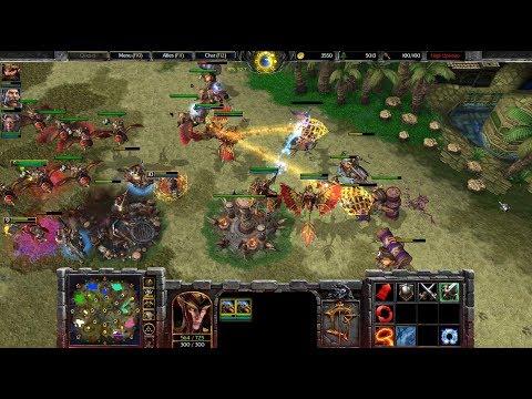 Warcraft 3 Reforged Beta Gameplay, Human 4v4, 1080p60, Max Settings