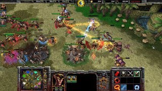Warcraft 3 Reforged Beta Gameplay, Human 4v4, 1080p60, Max Settings