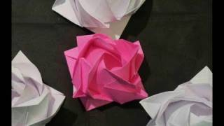 3d Origami Rose Rosa Part 2 Mother's Day How To Make 母の日バラ