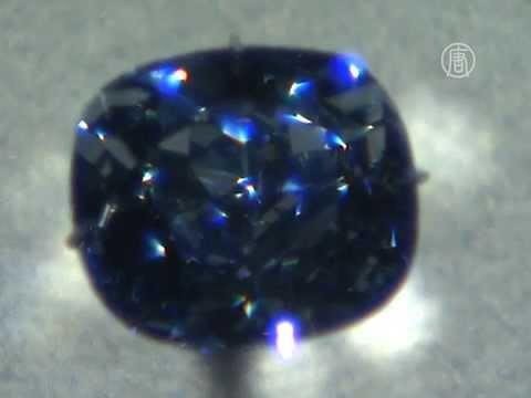 Редчайший синий бриллиант показывают в Лос-Анджелесе (новости)
