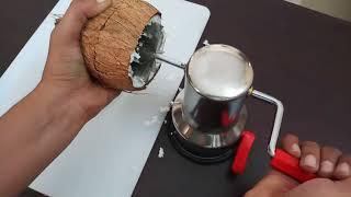 Coconut Scraper gadget put to test