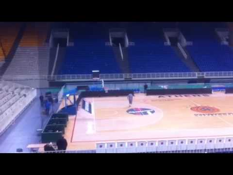 Gentile's extra shooting practice after the game Panathinaikos - Brose Bamberg
