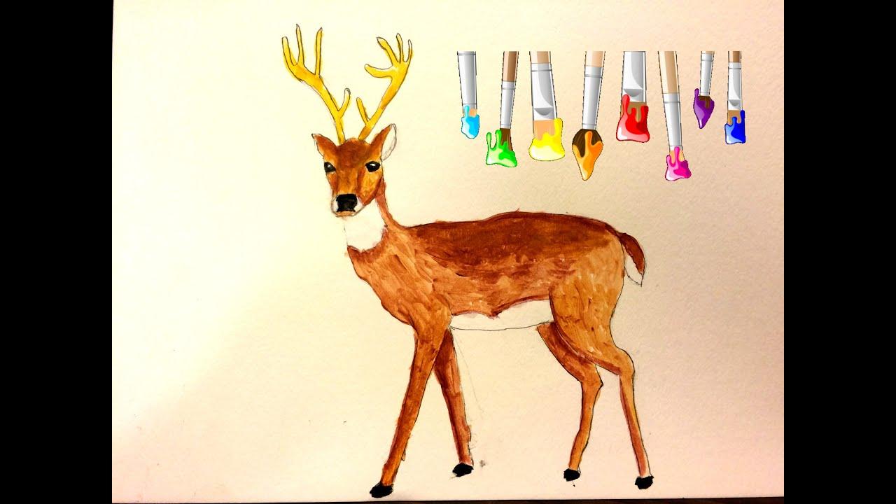 Acrylic Deer Painting