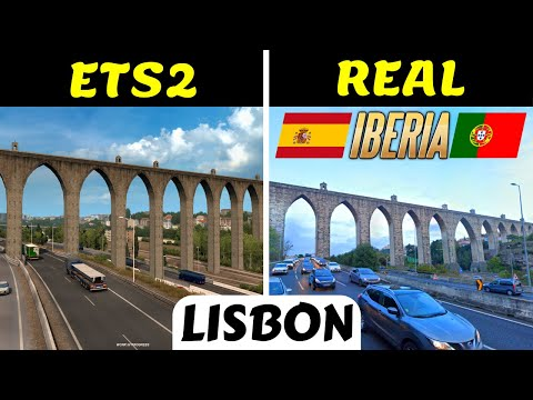 Lisbon: ETS2 vs Real Life | Comparing ETS2 Lisbon, Portugal [Iberia] with Real Life | SCS News #96