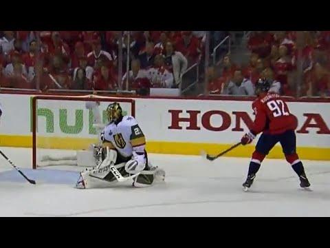 Kuznetsov picks the corner and beats Fleury under the blocker