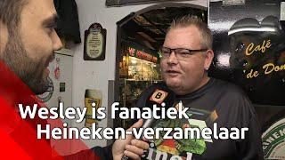 De Heinekenverzameling van Wesley van Hoof (39) uit St. Willebrord is heel bijzonder. Hij heeft d...