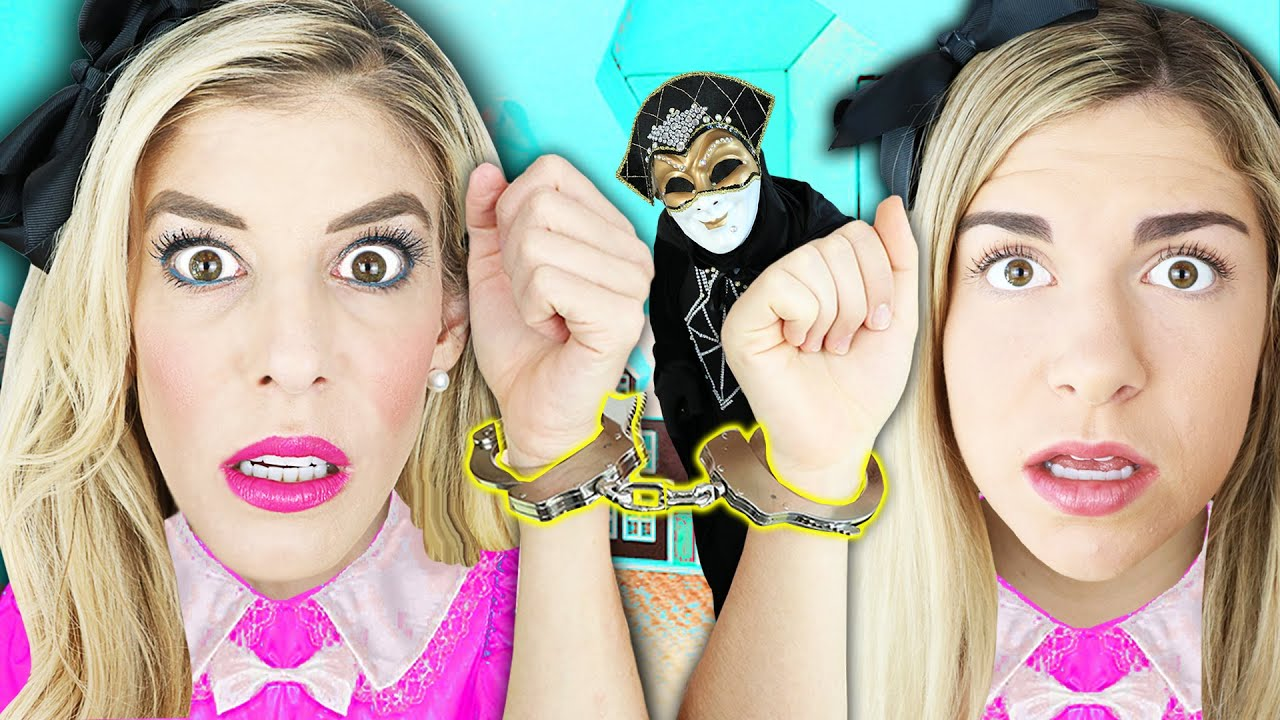 24 Hours Handcuffed To Twin Inside Giant Dollhouse In Real Life Rebecca Zamolo Youtube