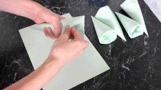 """Как сделать формочки для пирожных """"Трубочки"""""""