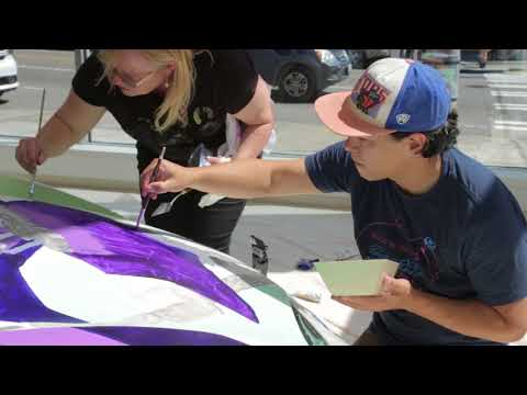 Gage Artists Paint an Italian Sports Car in Ferrari of Seattle Showroom