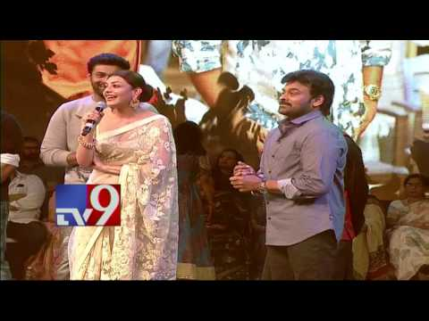 Actress Kajal Aggarwal speaks@ Khaidi No 150 Pre Release Event - TV9