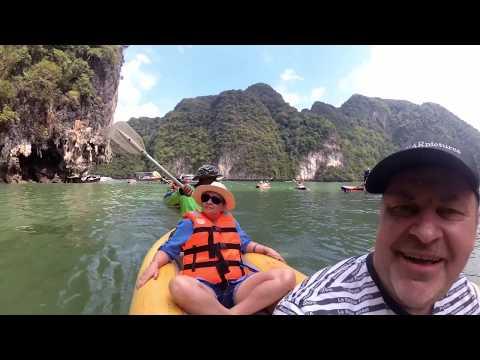 Phuket 2019. Part7 - Canoeing Tour In The Ao Phang Nga National Park (+EN Subs +RU титры)