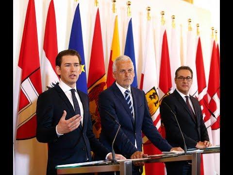 Pressegespräch mit Bundeskanzler Kurz, Vizekanzler Strache und Reformminister Moser, 27.04.2018