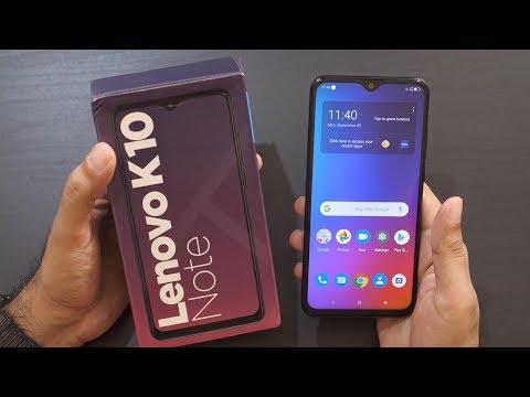Lenovo K10 Note Mid-Range Smartphone Unboxing & Overview