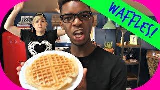 MY DRUNK KITCHEN: Waffles! (ft. Kingsley!)