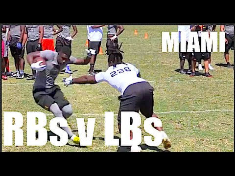Miami : The Opening Regionals : RBs v LBs  1 on 1s - UTR Top Plays