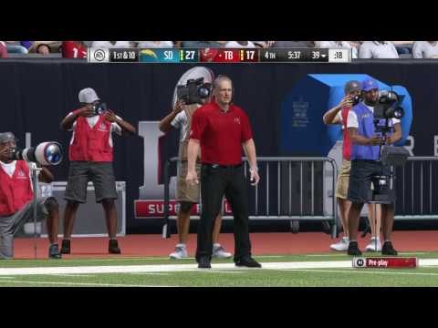 Madden NFL 17 (PS4) Super Bowl LI - Tampa Bay Buccaneers vs. San Diego Chargers (Part 2)