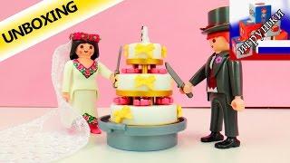 Молодожены и свадебный торт конструктор Playmobil 4298 демонстрация