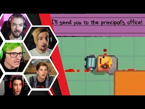 Let's Players Reaction To Getting Sent To The Principal's Office | Kindergarten 2
