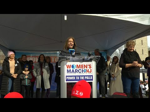 First lady shares story of sexual assault at New Jersey Women's March
