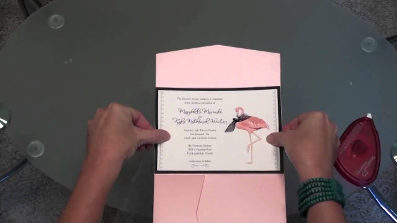 Pocket Folder Wedding Invitations - YouTube