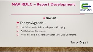 Day 05 - How To Develop RDLC Report in Microsoft Dynamics NAV - Grouping in RDLC Layout