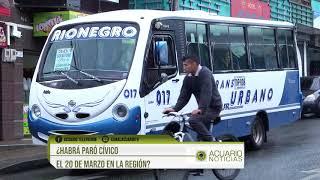 ¿Habrá Paro Cívico el 20 de marzo en la región?