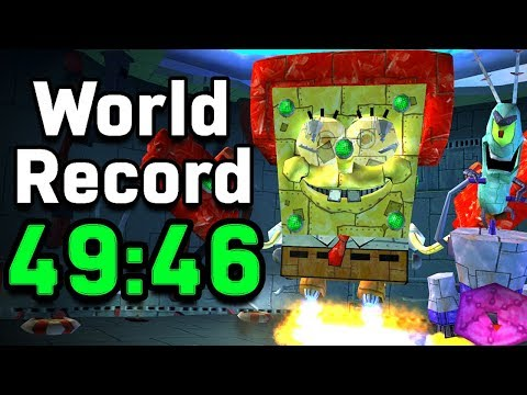 Battle For Bikini Bottom Completed In Under 50 Minutes! (Any% Speedrun World Record)