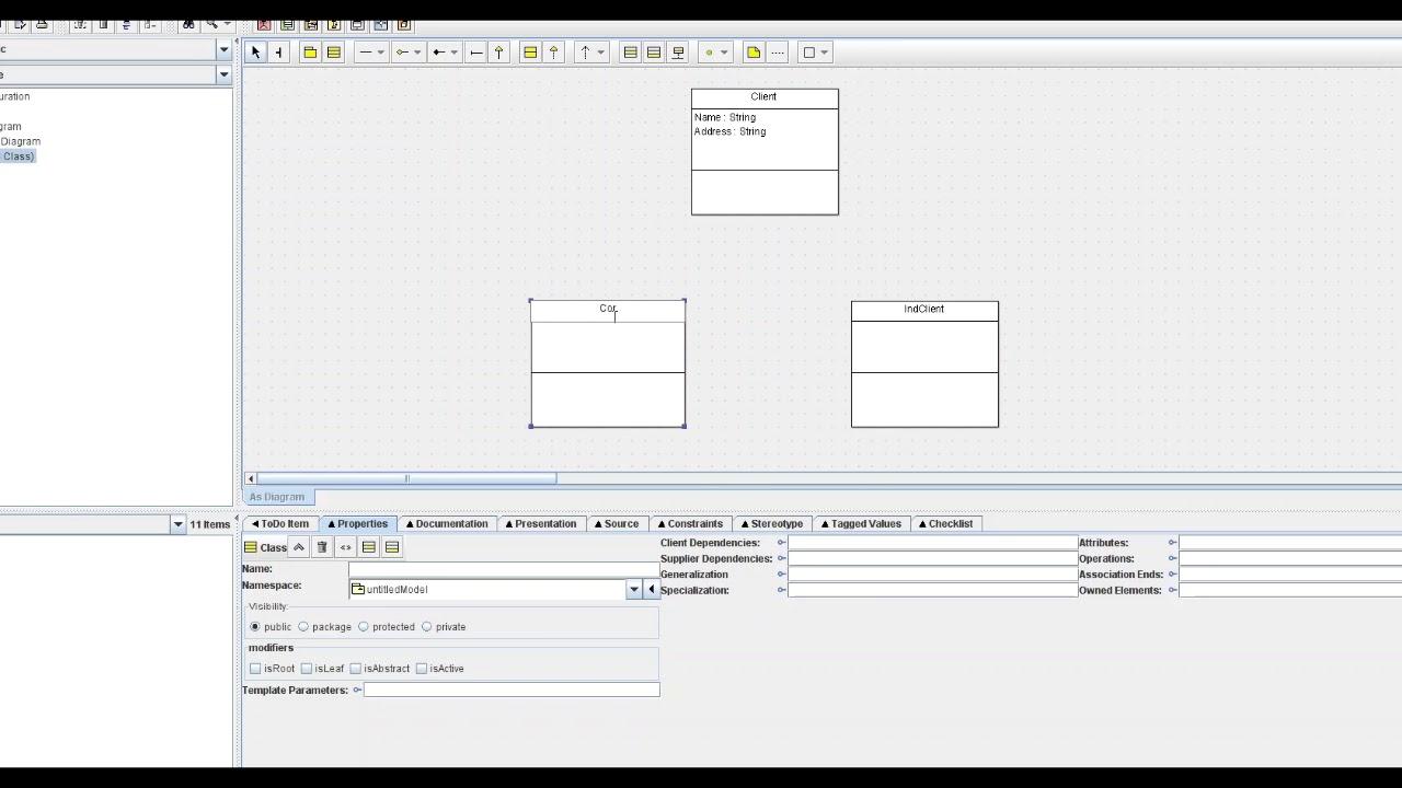 Convert UML Diagram to Code with ArgoUML - YouTube