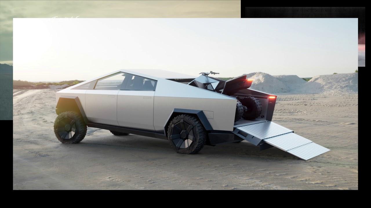 Tesla Cybertruck and ATV - YouTube