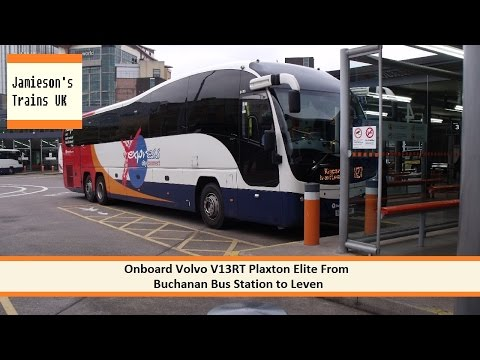 Onboard Volvo B13RT Plaxton Elite From Buchanan Bus Station to Leven Bus Station