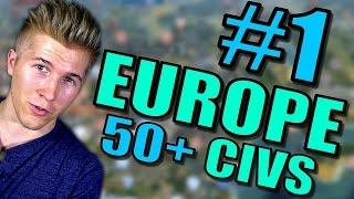 Civilization 5 Gameplay [Civ 5] Brave New World   Europe AI ONLY 50+ Civs Mods   Part 1