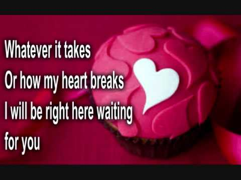 RIGHT HERE WAITING - RICHARD MARX (lyrics)