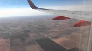 Southwest Airlines Boeing 737-700: Landing Lubbock, TX coming from Dallas Love Field, TX RWY 26