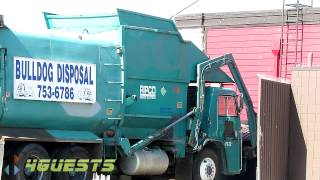 Front Loader Garbage Truck, Bulldog Disposal