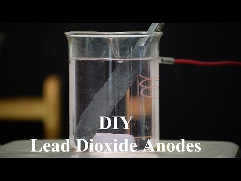 Making Lead Dioxide Anodes - Attempt