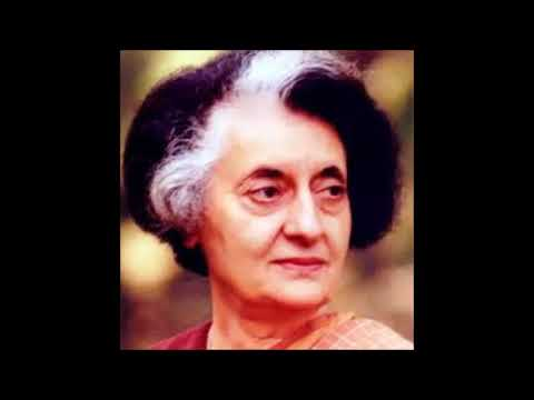 Song on Indira Gandhi - lyricist, composer, singer - Subhendu Dtta
