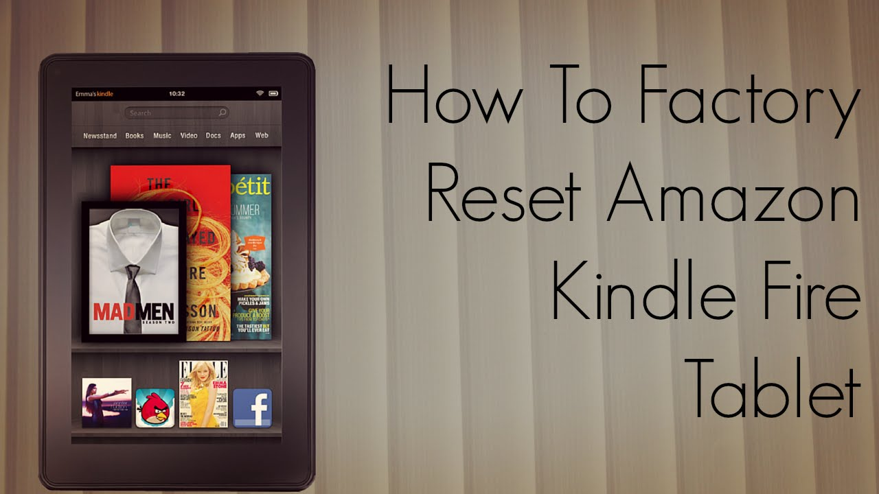 how to factory reset amazon kindle fire tablet tutorial rh youtube com Reset Frozen Kindle Fire Reset Frozen Kindle Fire