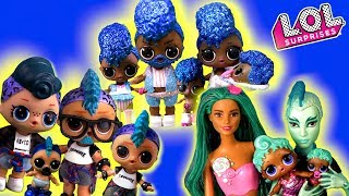 СЕМЕЙКИ ЛОЛ Мультики про куклы лол сюрприз семейка Панки и Русалки. ООАК LOL Families Surprise