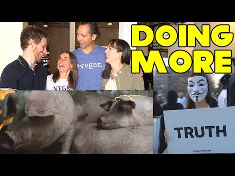 Changing How We Do Vegan | Our First Cube of Truth and Animal Vigil